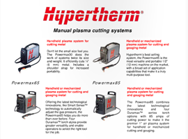 Hypertherm page in Steveweld Online Catalogue
